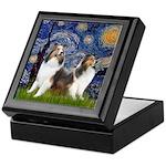 Starry / Two Shelties (D&L) Keepsake Box