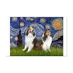 Starry / Two Shelties (D&L) Mini Poster Print