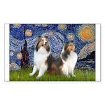 Starry / Two Shelties (D&L) Sticker (Rectangle 10