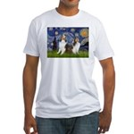 Starry / Two Shelties (D&L) Fitted T-Shirt