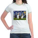 Starry / Two Shelties (D&L) Jr. Ringer T-Shirt