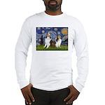 Starry / Two Shelties (D&L) Long Sleeve T-Shirt