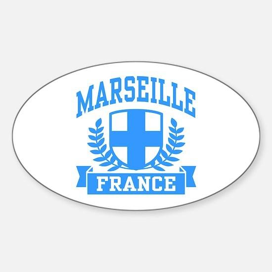 Marseille France Sticker (Oval)