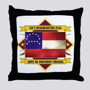 Lee's Headquarters Flag Throw Pillow
