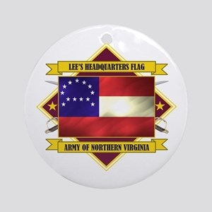 Lee's Headquarters Flag Ornament (Round)
