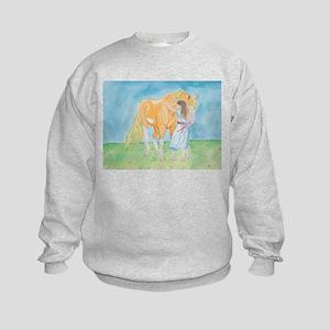 Kids Sweatshirt horse and girl