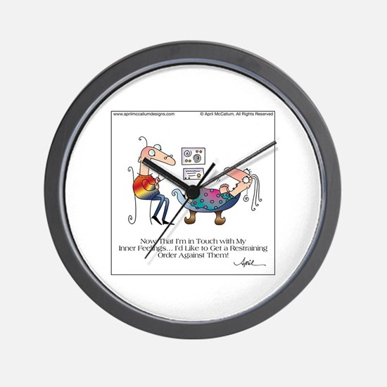 INNER FEELINGS by April McCallum Wall Clock