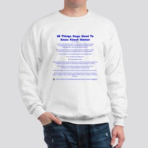 10 Things About Women Sweatshirt