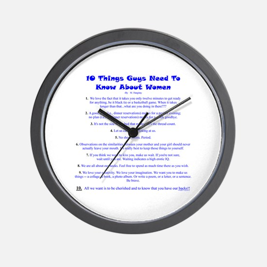 10 Things About Women Wall Clock