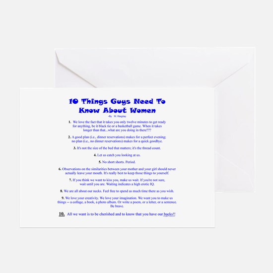 10 Things About Women Greeting Card