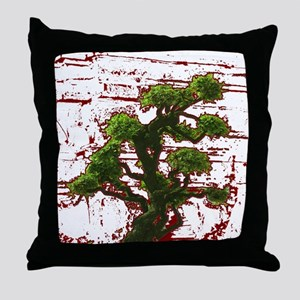 Bonzai Zen Throw Pillow
