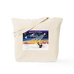 XmasSunrise/2 Shelties (dl) Tote Bag