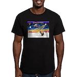 XmasSunrise/2 Shelties (dl) Men's Fitted T-Shirt (