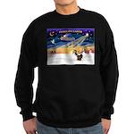 XmasSunrise/2 Shelties (dl) Sweatshirt (dark)