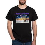 XmasSunrise/2 Shelties (dl) Dark T-Shirt