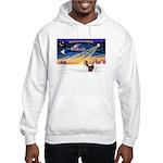 XmasSunrise/2 Shelties (dl) Hooded Sweatshirt