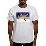 XmasSunrise/2 Shelties (dl) Light T-Shirt