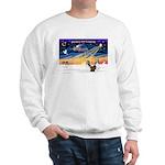 XmasSunrise/2 Shelties (dl) Sweatshirt