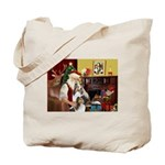 Santas Two Shelties (dl) Tote Bag