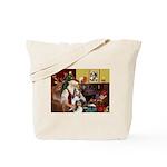 Santas Two Shelties (dl) Tote Bag