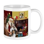 Santas Two Shelties (dl) Mug