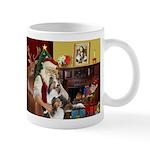 Santas Two Shelties (dl) Mug