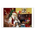 Santas Two Shelties (dl) Sticker (Rectangle)