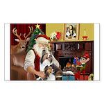 Santas Two Shelties (dl) Sticker (Rectangle)