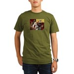 Santas Two Shelties (dl) Organic Men's T-Shirt (da