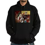 Santas Two Shelties (dl) Hoodie (dark)
