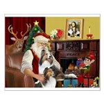 Santas Two Shelties (dl) Small Poster