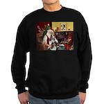 Santas Two Shelties (dl) Sweatshirt (dark)