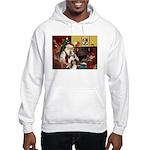 Santas Two Shelties (dl) Hooded Sweatshirt