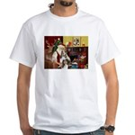 Santas Two Shelties (dl) White T-Shirt