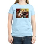 Santas Two Shelties (dl) Women's Light T-Shirt