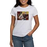 Santas Two Shelties (dl) Women's T-Shirt