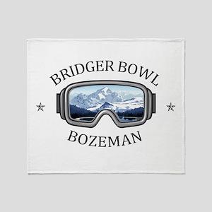 Bridger Bowl - Bozeman - Montana Throw Blanket