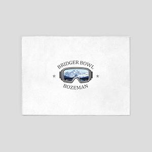 Bridger Bowl - Bozeman - Montana 5'x7'Area Rug