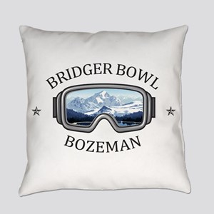 Bridger Bowl - Bozeman - Montana Everyday Pillow
