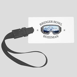 Bridger Bowl - Bozeman - Monta Large Luggage Tag