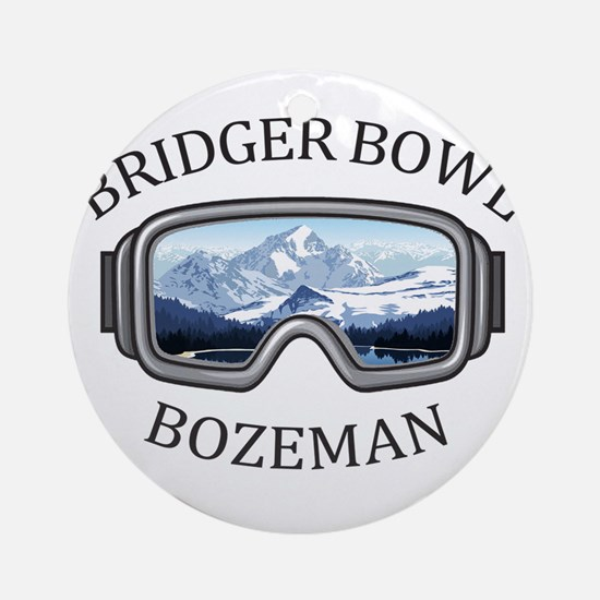 Bridger Bowl - Bozeman - Montana Round Ornament