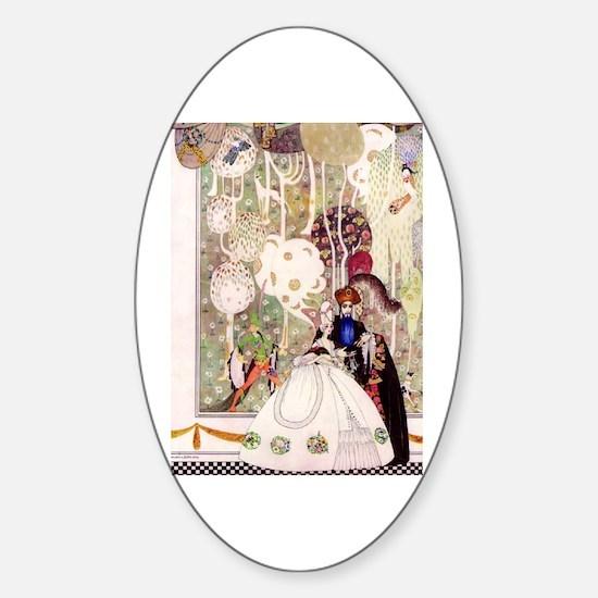 Kay Nielsen's Blue Beard Sticker (Oval)