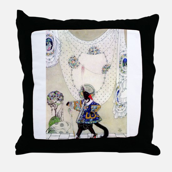 Kay Nielsen's Puss In Boots Throw Pillow