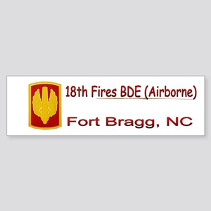 18th Fires BDE Sticker (Bumper)