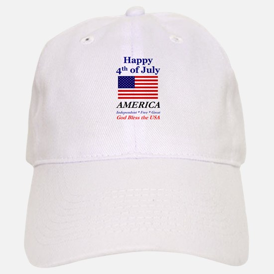 4th of July Baseball Baseball Cap