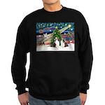 Xmas Magic / 2 Shelties (dl) Sweatshirt (dark)