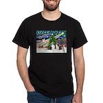 Xmas Magic / 2 Shelties (dl) Dark T-Shirt