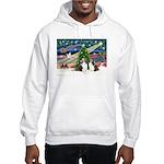 Xmas Magic / 2 Shelties (dl) Hooded Sweatshirt