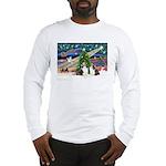 Xmas Magic / 2 Shelties (dl) Long Sleeve T-Shirt