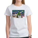 Xmas Magic / 2 Shelties (dl) Women's T-Shirt